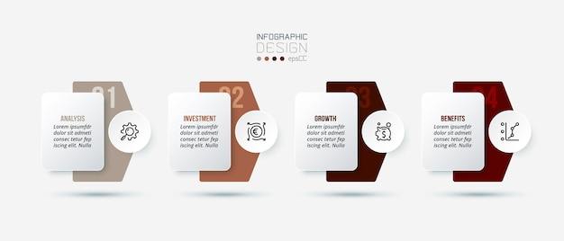 Modello di infografica aziendale Vettore Premium