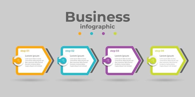 Infografica aziendale con quattro opzioni