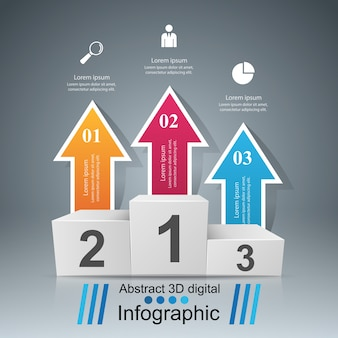 Infografica di affari Vettore Premium