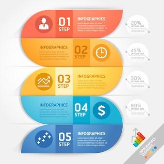 Modello di progettazione di infographics di affari