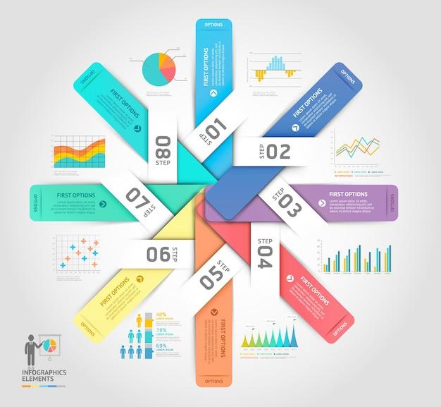 Modello di elementi di infographics di affari