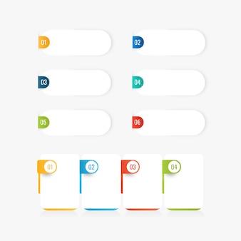 Layout del modello di infografica aziendale con diverse opzioni e spazio di copia.