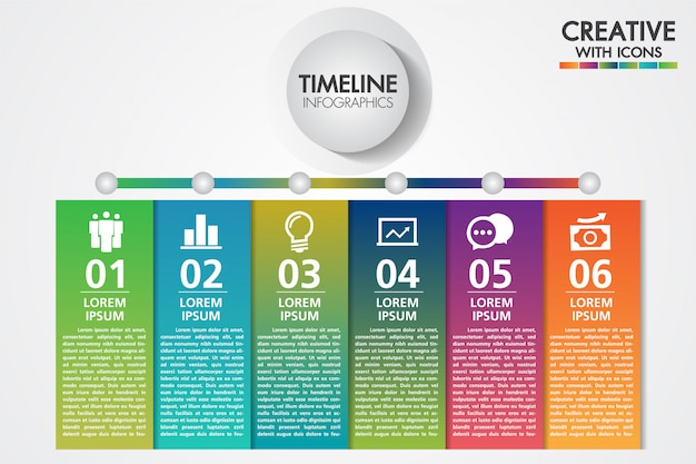 Modello di infografica di affari