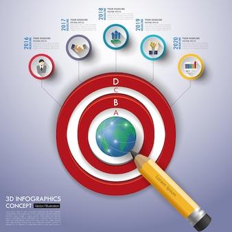 Infographics di affari con set di icone. illustrazione.