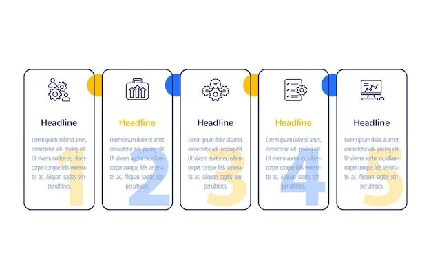 Infographics di affari con le icone di linea