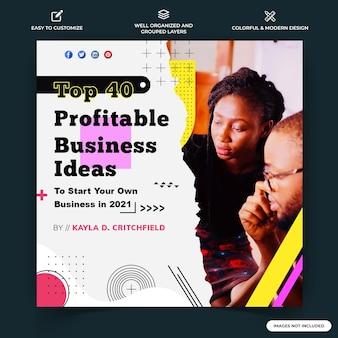 Modello di banner web post aziendale instagram