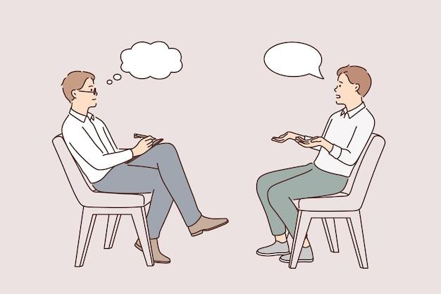 Intervista d'affari e concetto di caccia alla testa