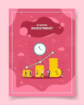 Concetto di investimento aziendale per modello di volantino