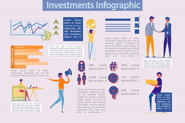 Modello di infographics di investimenti aziendali
