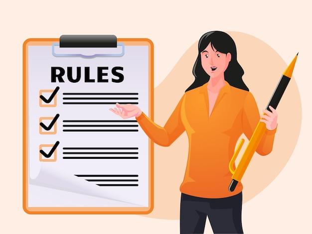 Elenco commerciale delle regole per la lettura delle linee guida per la creazione della lista di controllo