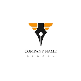 Logo aziendale con simbolo della penna