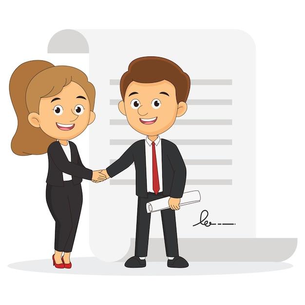 Uomo e donna d'affari. due persone si stringono la mano, uomo d'affari, partner, manager