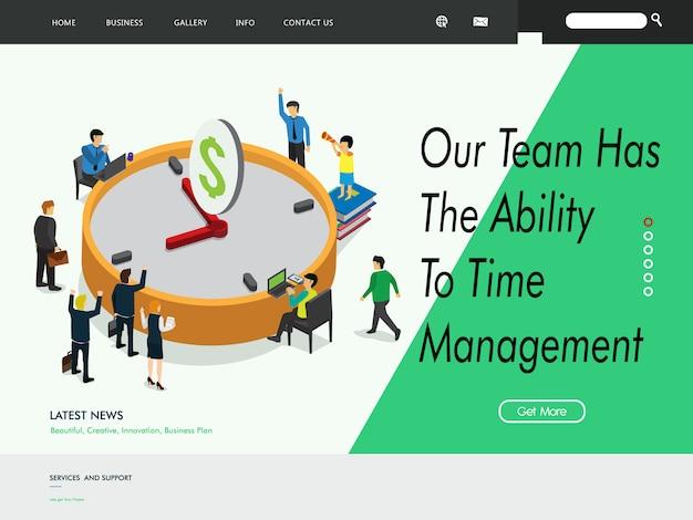 Modello di pagina di destinazione del sito web di gestione aziendale