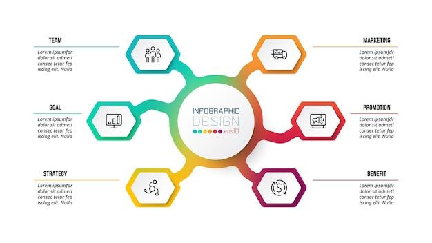 Modello di infografica diagramma di affari o marketing.