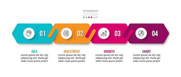 Modello di progettazione infografica aziendale o di marketing