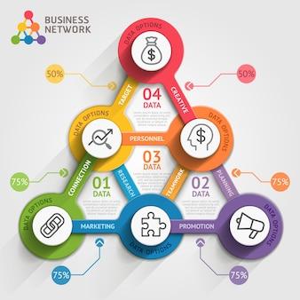 Modello di infografica di marketing aziendale.