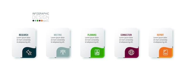 Modello di infografica aziendale o di marketing.