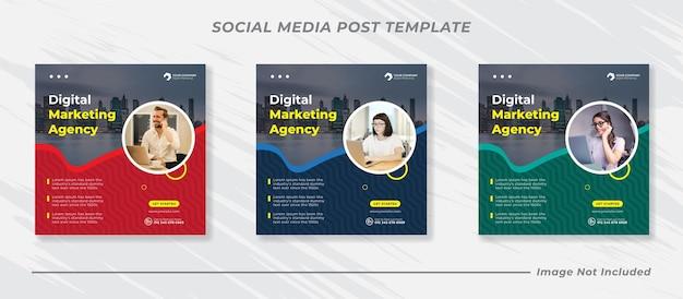 Modello di banner per post sui social media di marketing aziendale