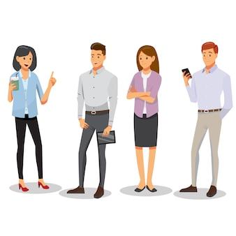 Set di caratteri di uomini e donne d'affari