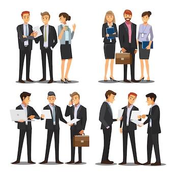 Carattere di uomini e donne d'affari