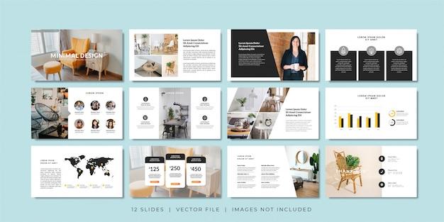 Modello di presentazione di diapositive minimal business.