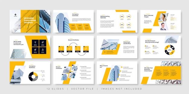 Modello di presentazione di diapositive minime aziendali