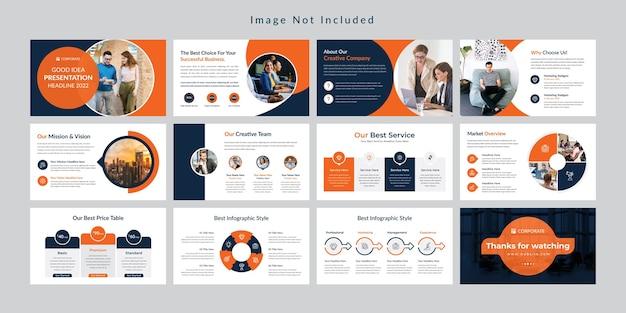 Modello di presentazione di diapositive minime aziendali.