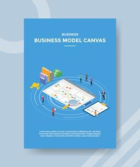 Modello di volantino di tela modello di business