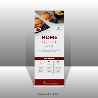 Design di banner standee moderno rollup aziendale
