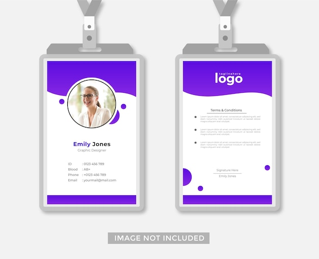 Vettore di stile astratto di disegno di carta d'identità di affari o ufficio