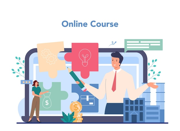 Piattaforma o servizio online aziendale. idea della strategia e del raggiungimento dell'affare.