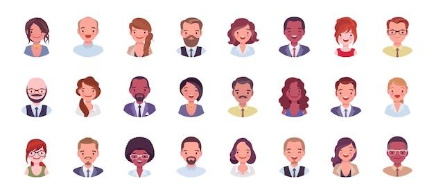 Set di grandi pacchetti di avatar di uomini d'affari