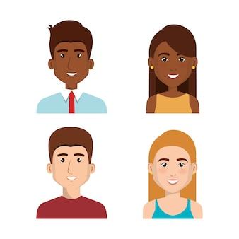 Icona di avatar di uomini d'affari