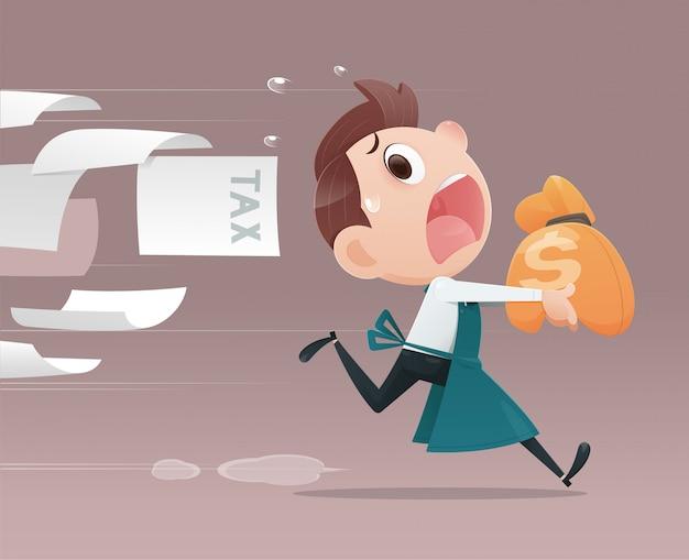 Gli uomini d'affari evitano le tasse