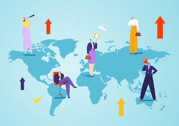 Gli uomini d'affari si occupano della connessione di rete