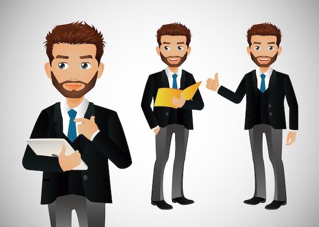 Personaggi di avatar di gruppo di uomini d'affari
