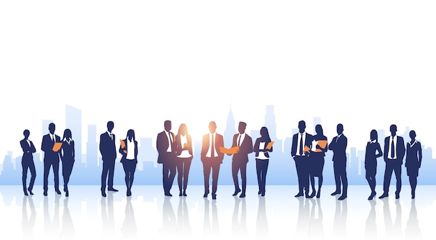 Business people group silhouette