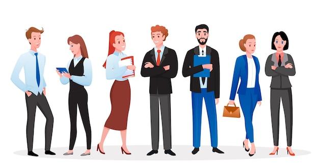 Insieme dell'illustrazione della gente di affari.