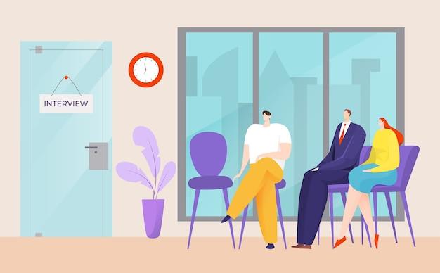Uomini d'affari in ufficio illustrazione