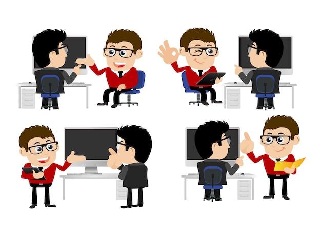 Concetto di formazione per riunioni di presentazione di uomini d'affari