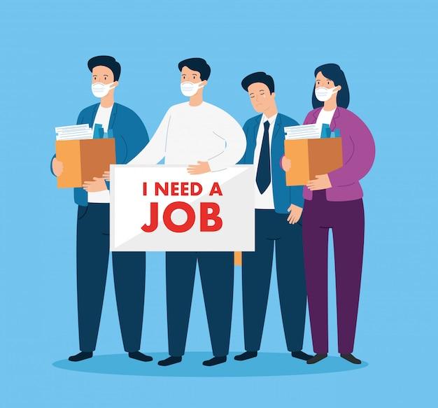 Disoccupazione degli uomini d'affari a causa della pandemia di coronavirus