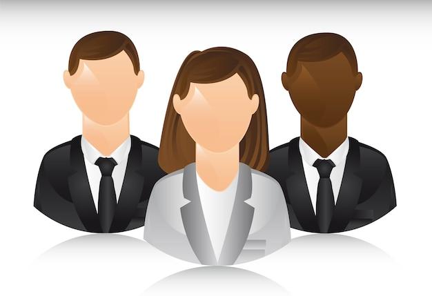 Uomini d'affari con illustrazione vettoriale ombra
