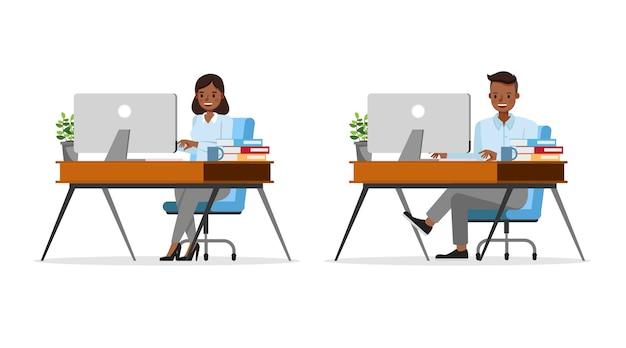 Illustrazione del lavoratore della gente di affari