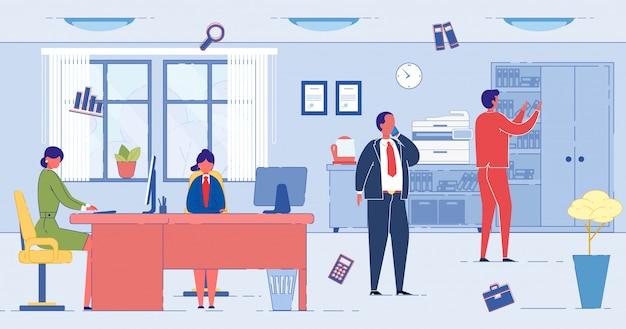 Uomini d'affari che lavorano in ufficio