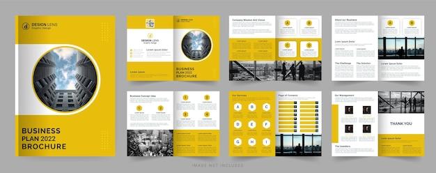 Modello di brochure aziendale per il piano aziendale 2022