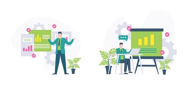 Illustrazione di concetto del business plan