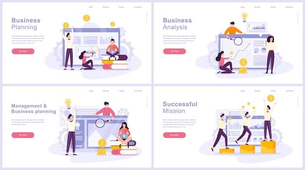 Insieme di concetto di pianificazione aziendale. idea di analisi