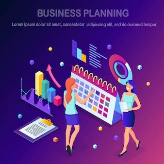 Concetto di pianificazione aziendale.