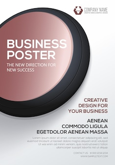 Poster aziendale modello di volantino poster per la tua attività presentazione di copertina