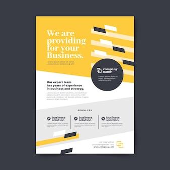 Modello del manifesto di affari